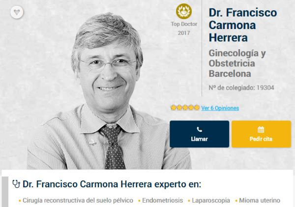 Top Doctors Award 2017 Dr. Francisco Carmona